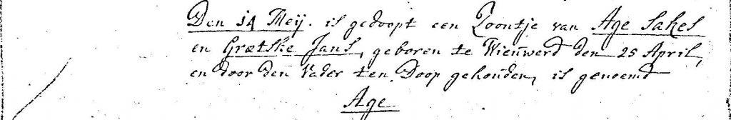 Age Ages Wijma doopboek